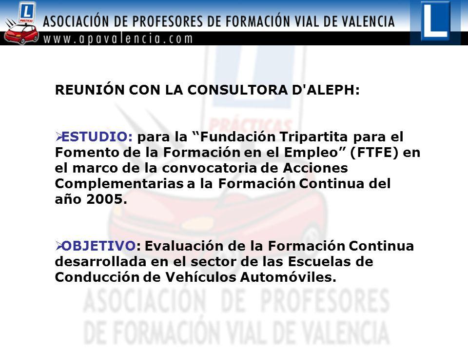 REUNIÓN CON LA CONSULTORA D ALEPH:
