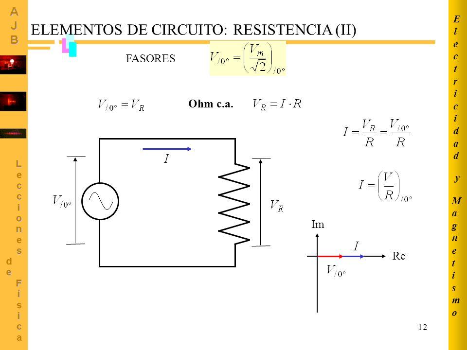 ELEMENTOS DE CIRCUITO: RESISTENCIA (II)