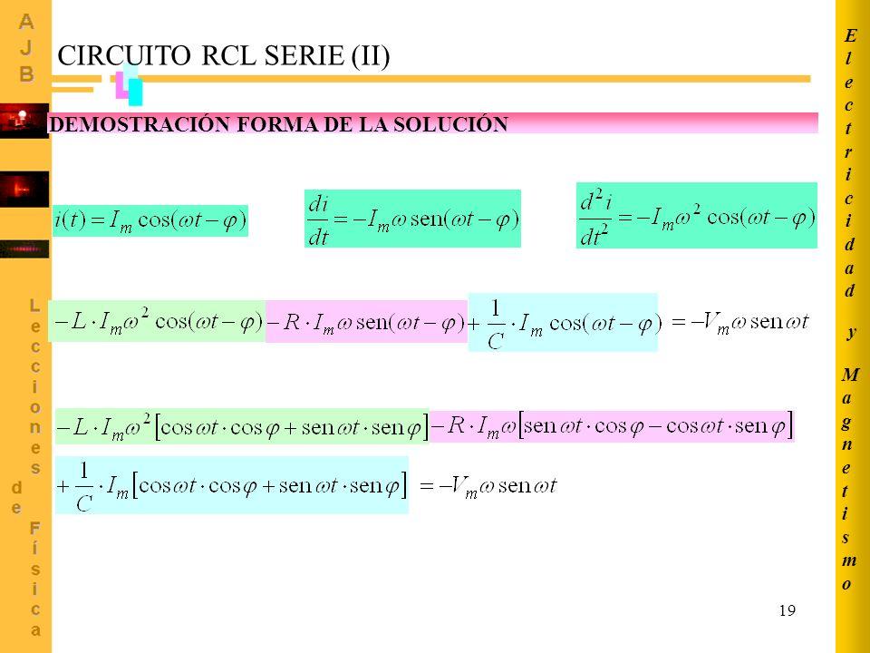 CIRCUITO RCL SERIE (II)