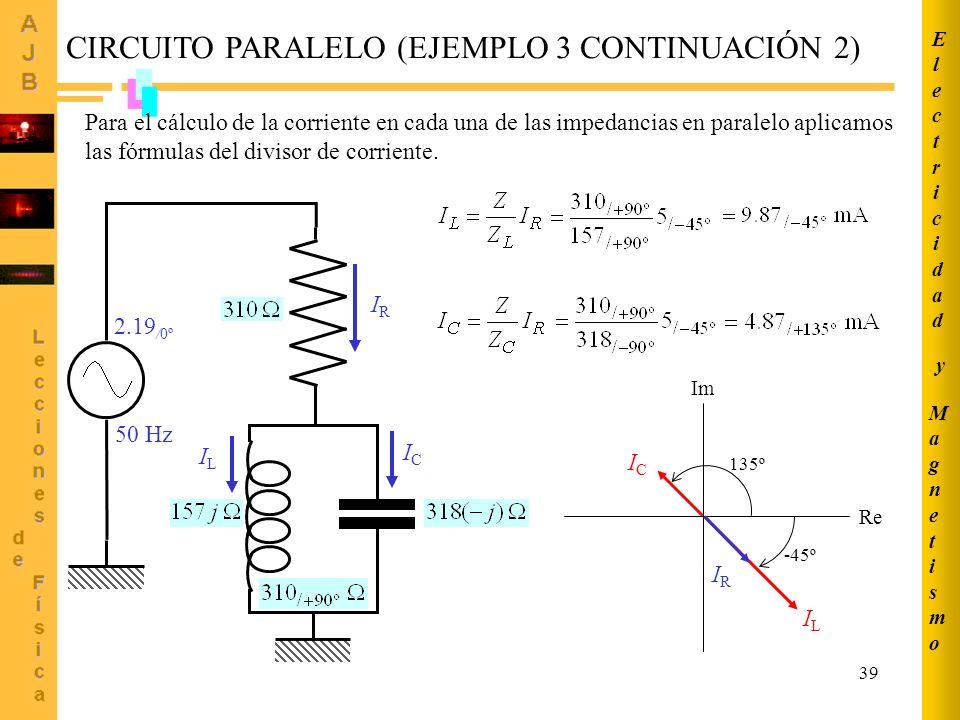 CIRCUITO PARALELO (EJEMPLO 3 CONTINUACIÓN 2)