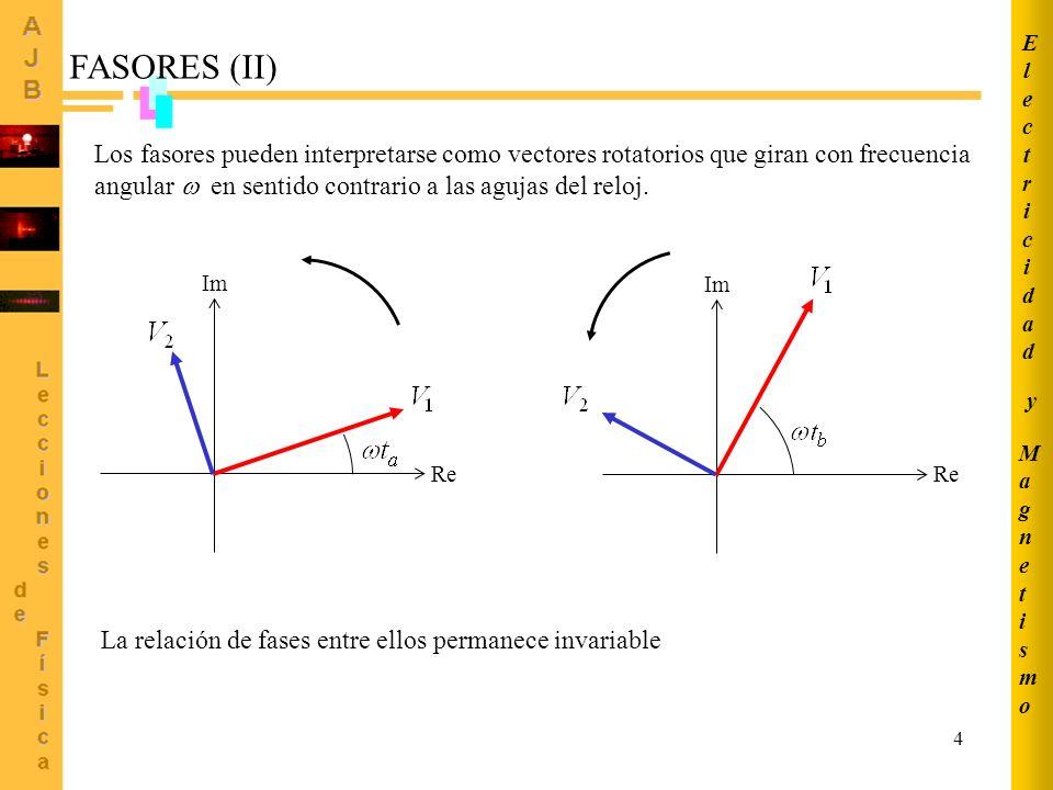 Magnetismo Electricidad. y. FASORES (II)