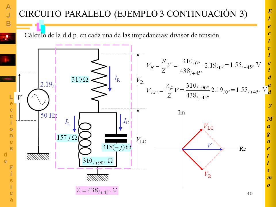 CIRCUITO PARALELO (EJEMPLO 3 CONTINUACIÓN 3)