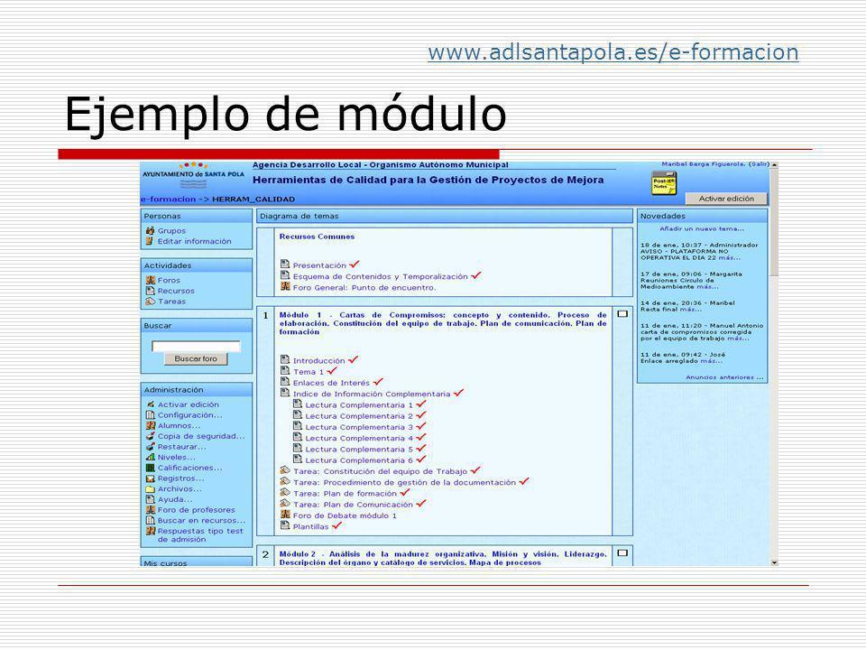 Ejemplo de módulo www.adlsantapola.es/e-formacion