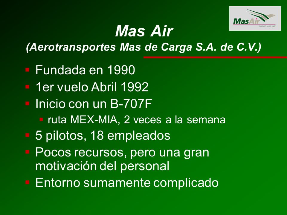 Mas Air (Aerotransportes Mas de Carga S.A. de C.V.)