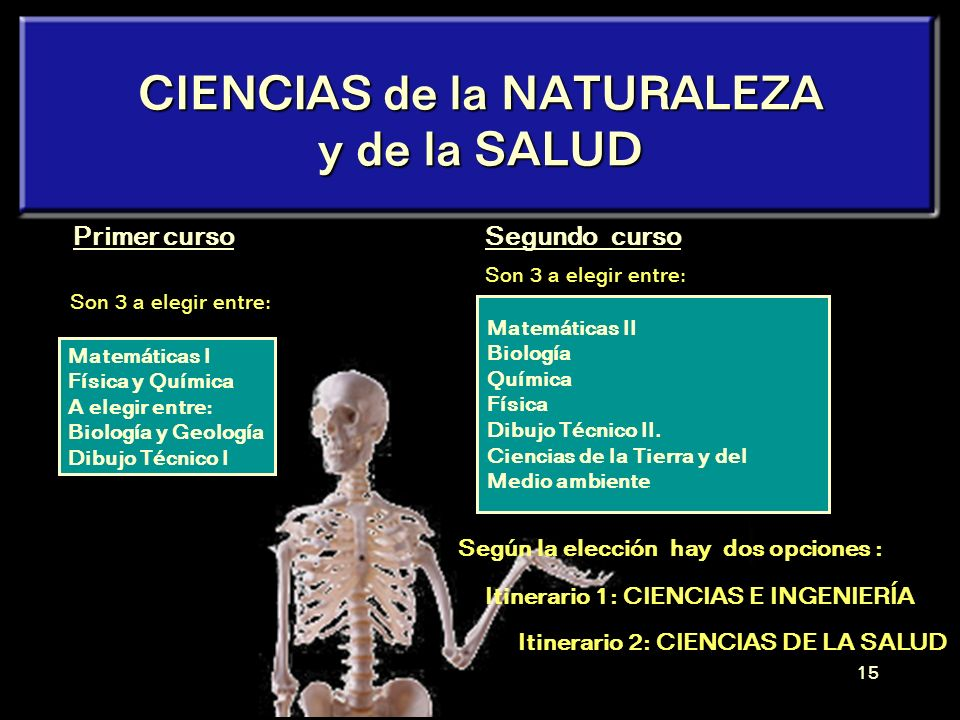 CIENCIAS de la NATURALEZA y de la SALUD