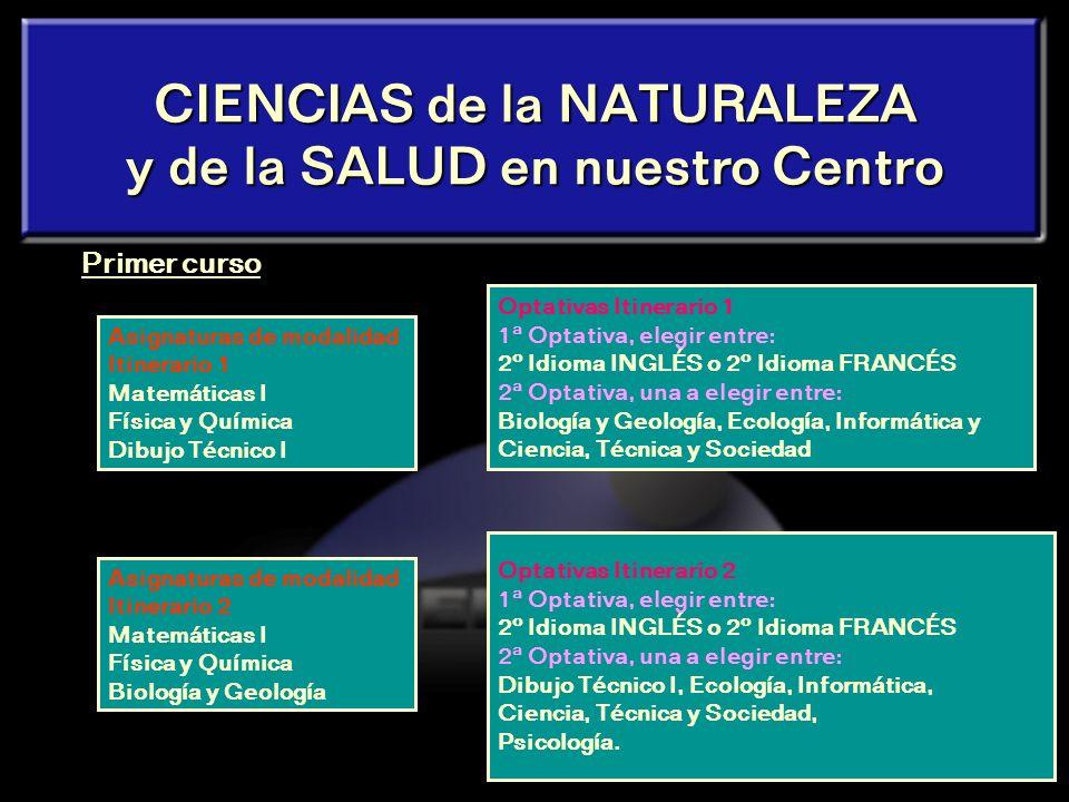 CIENCIAS de la NATURALEZA y de la SALUD en nuestro Centro