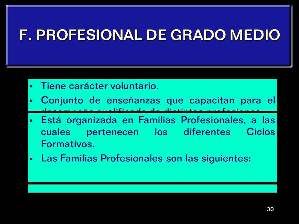 F. PROFESIONAL DE GRADO MEDIO