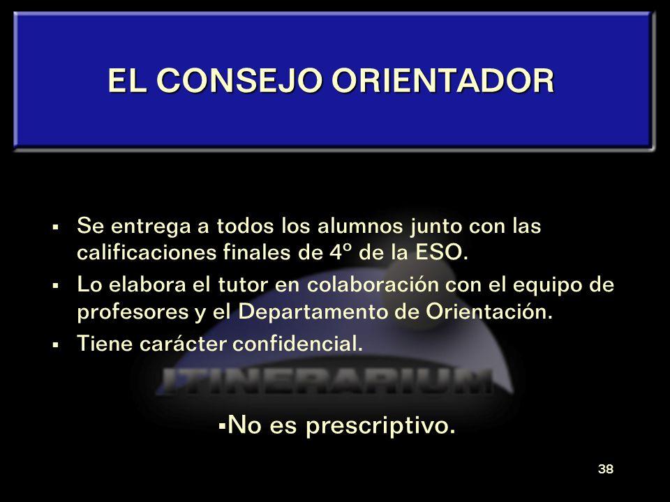 EL CONSEJO ORIENTADOR No es prescriptivo.