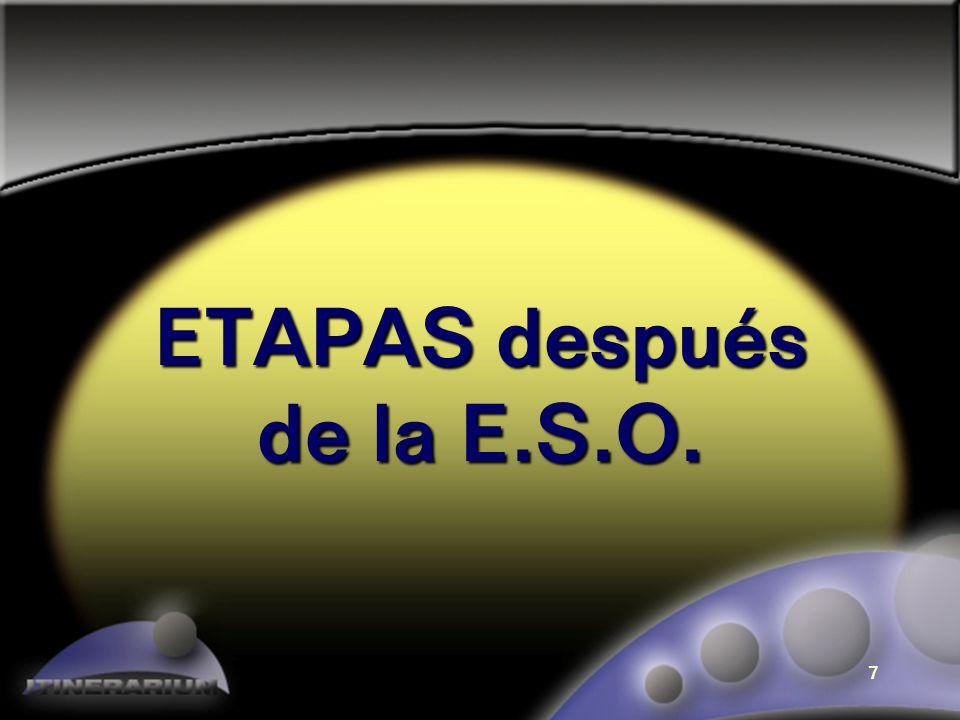ETAPAS después de la E.S.O.