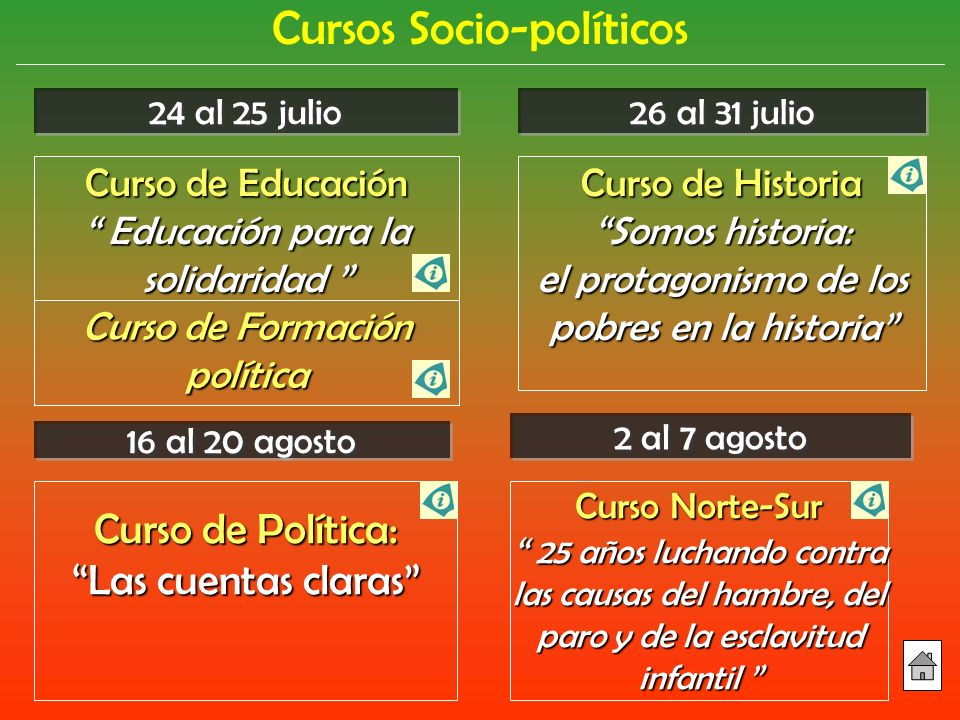 Cursos Socio-políticos