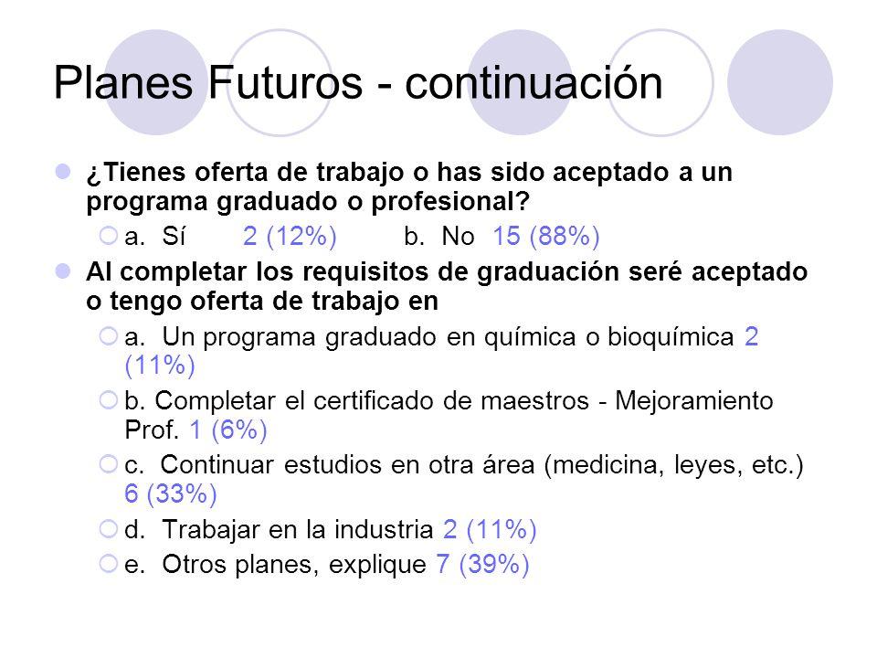 Planes Futuros - continuación