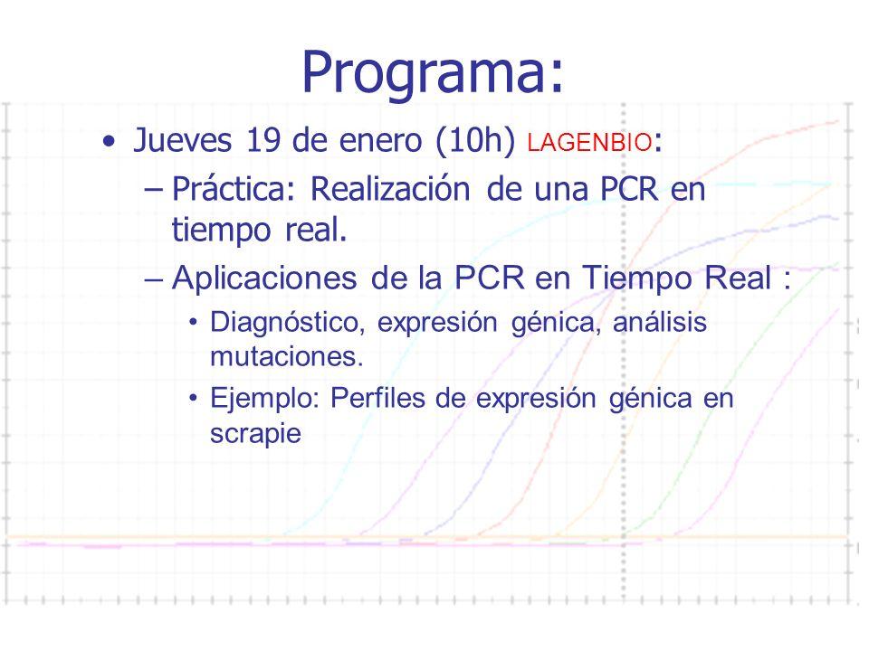Programa: Jueves 19 de enero (10h) LAGENBIO: