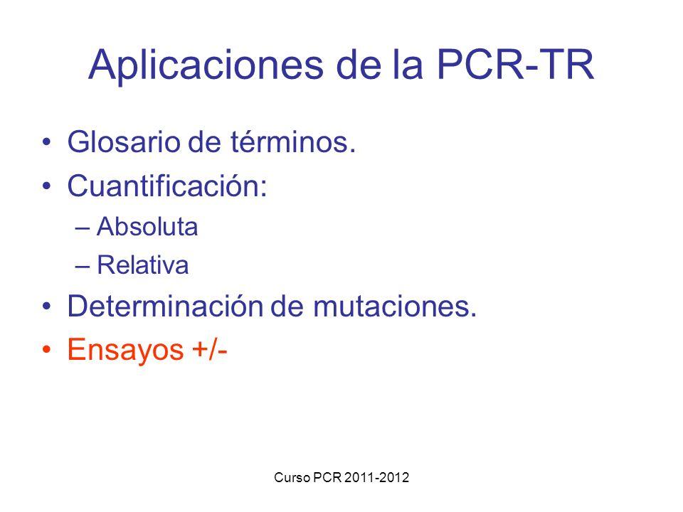 Aplicaciones de la PCR-TR