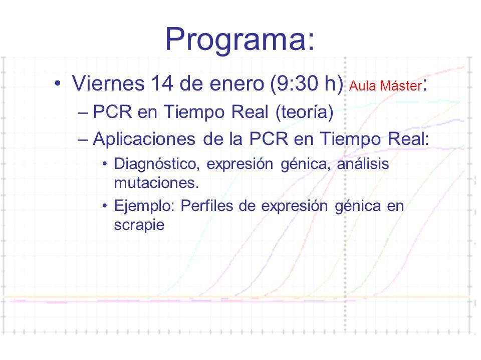 Programa: Viernes 14 de enero (9:30 h) Aula Máster: