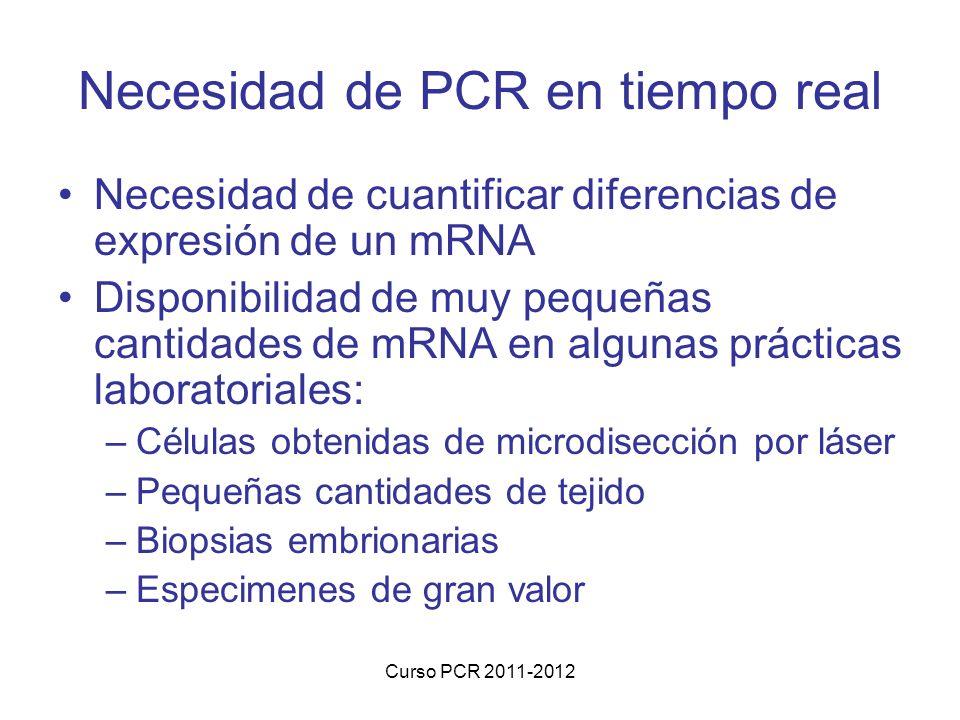 Necesidad de PCR en tiempo real
