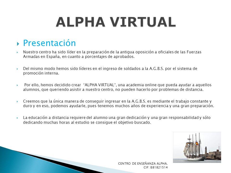 ALPHA VIRTUAL Presentación
