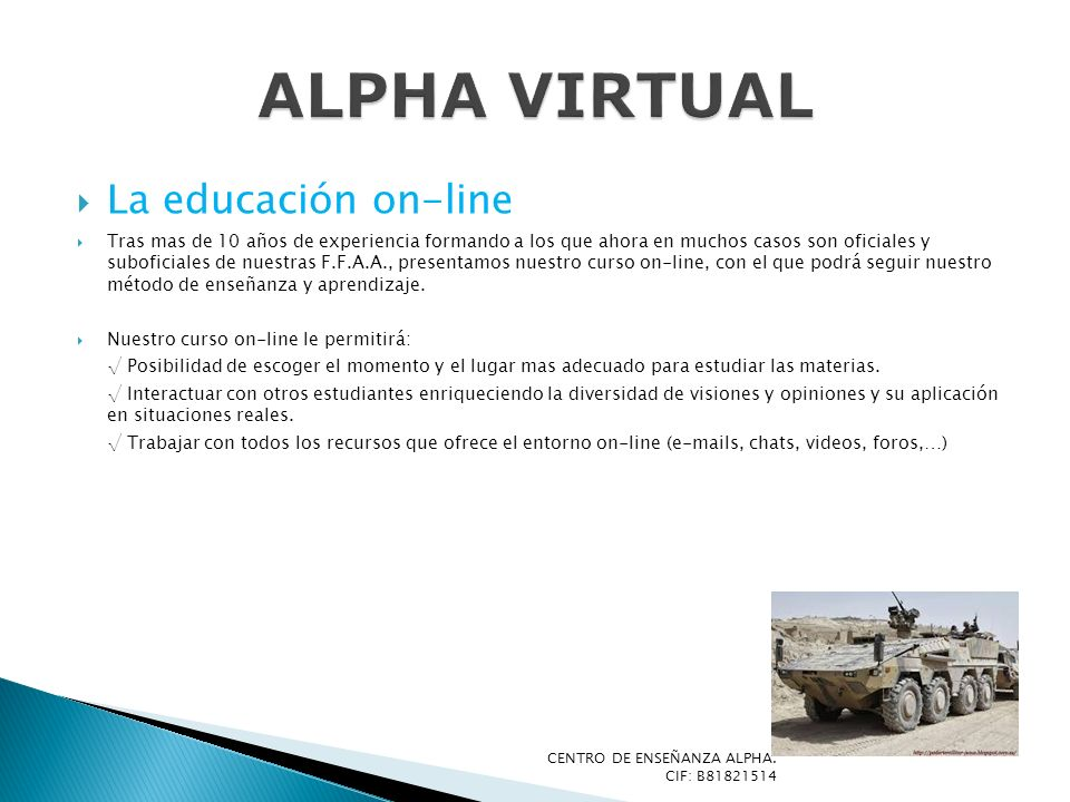 ALPHA VIRTUAL La educación on-line