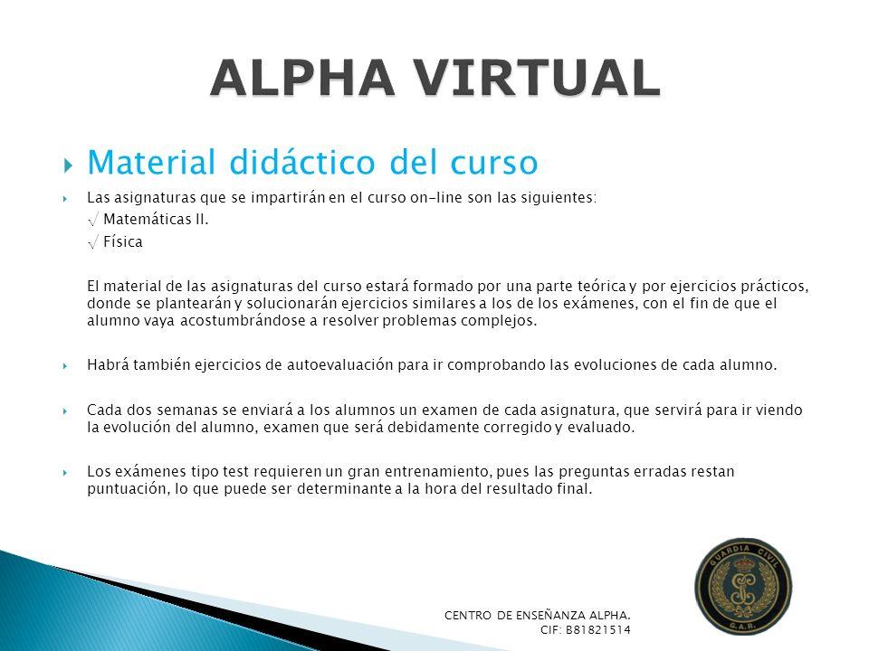 ALPHA VIRTUAL Material didáctico del curso