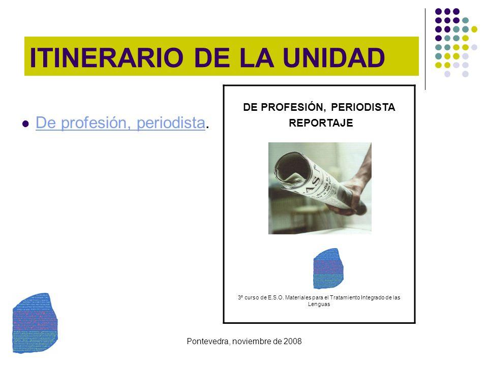 ITINERARIO DE LA UNIDAD