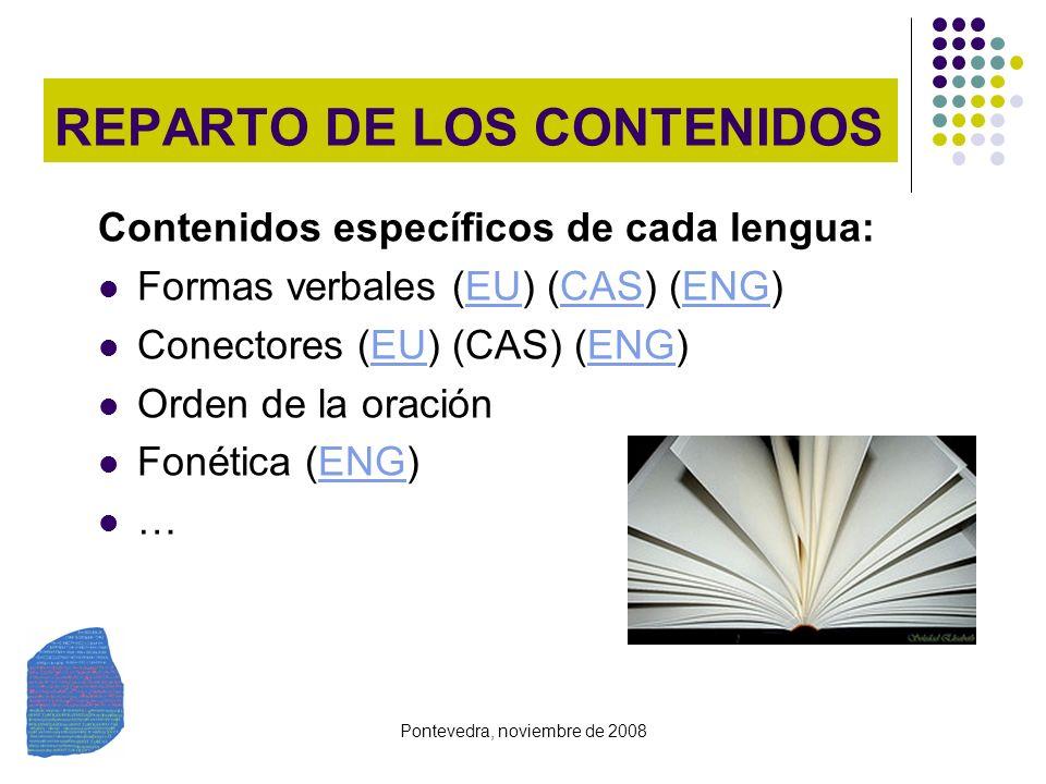 REPARTO DE LOS CONTENIDOS