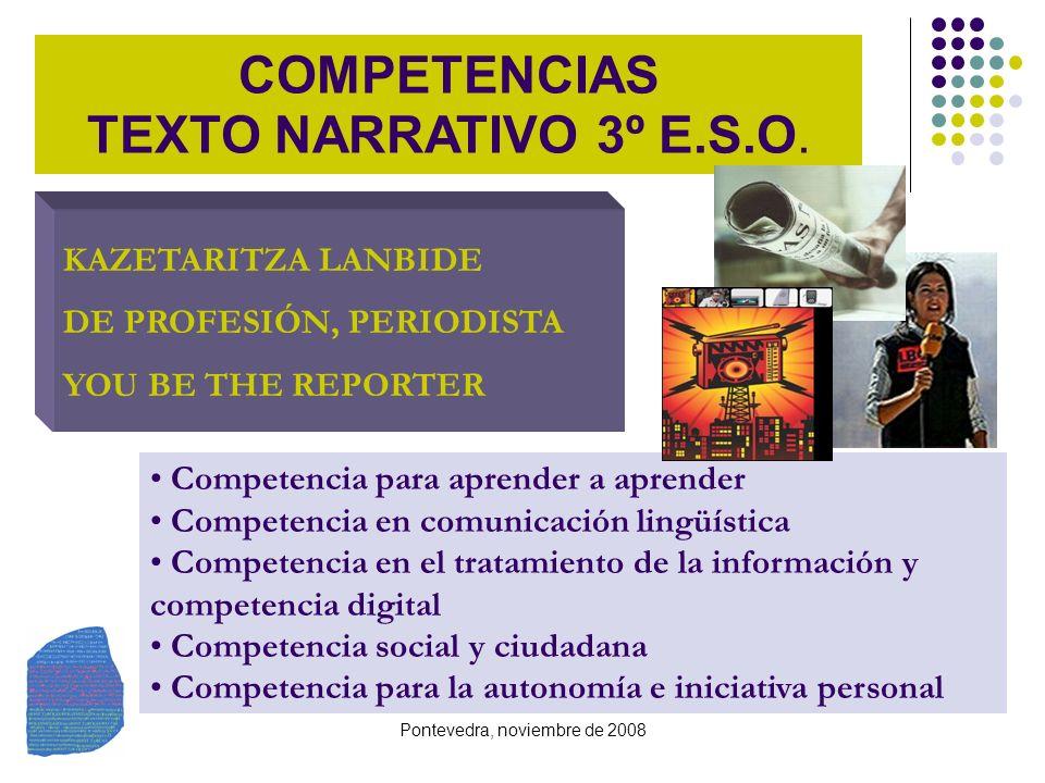 COMPETENCIAS TEXTO NARRATIVO 3º E.S.O.