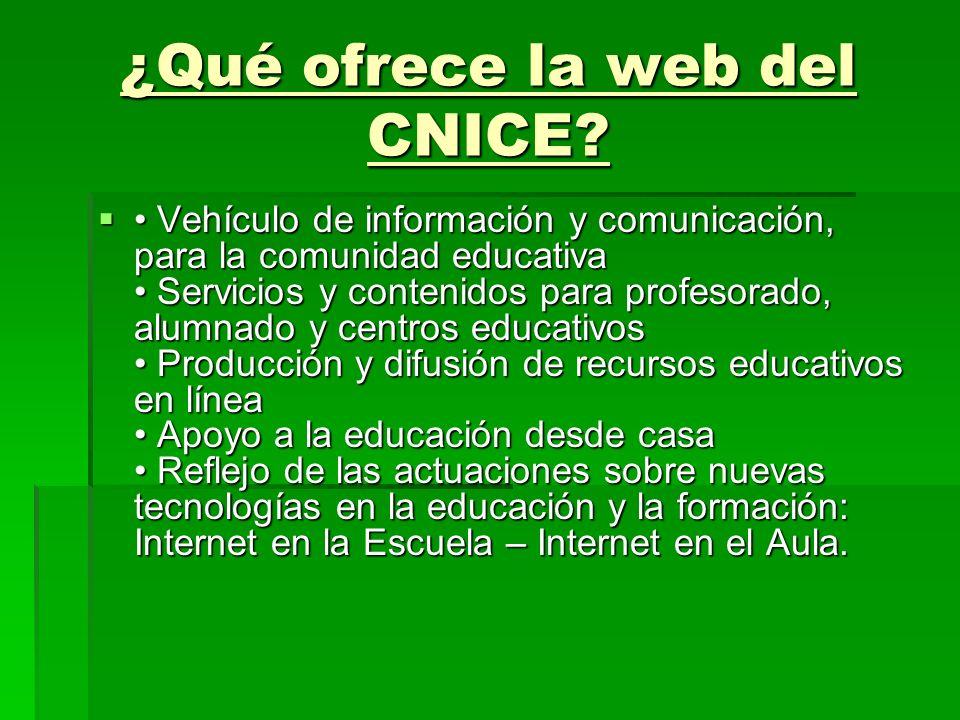 ¿Qué ofrece la web del CNICE