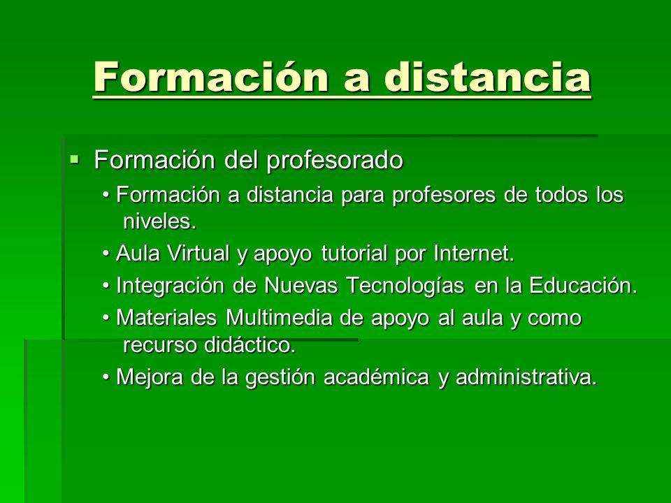 Formación a distancia Formación del profesorado