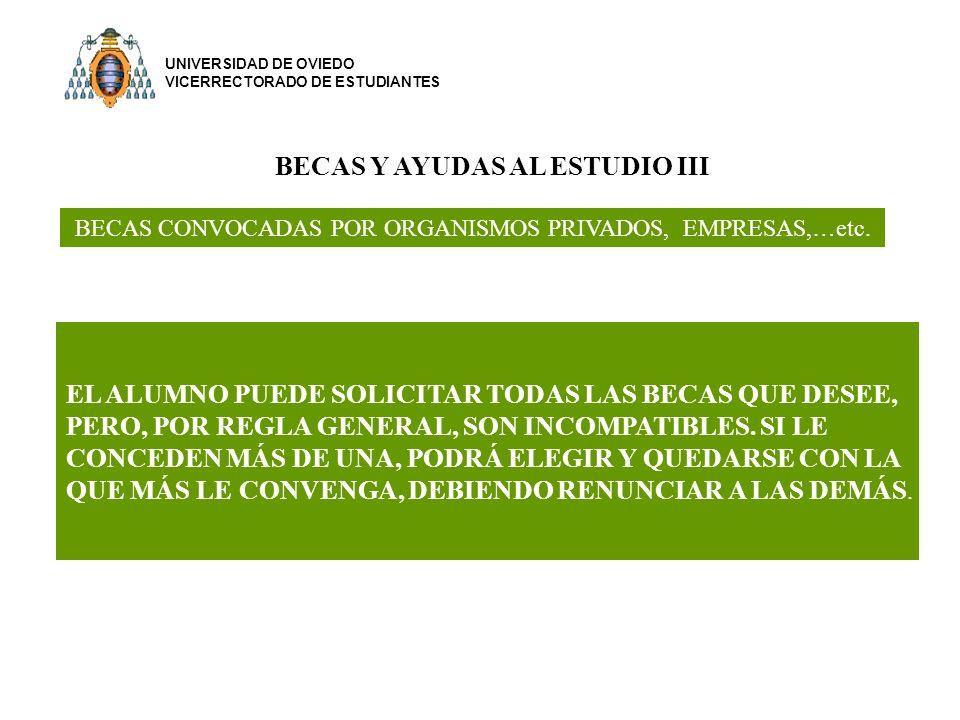 BECAS Y AYUDAS AL ESTUDIO III