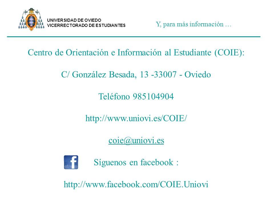 Centro de Orientación e Información al Estudiante (COIE):