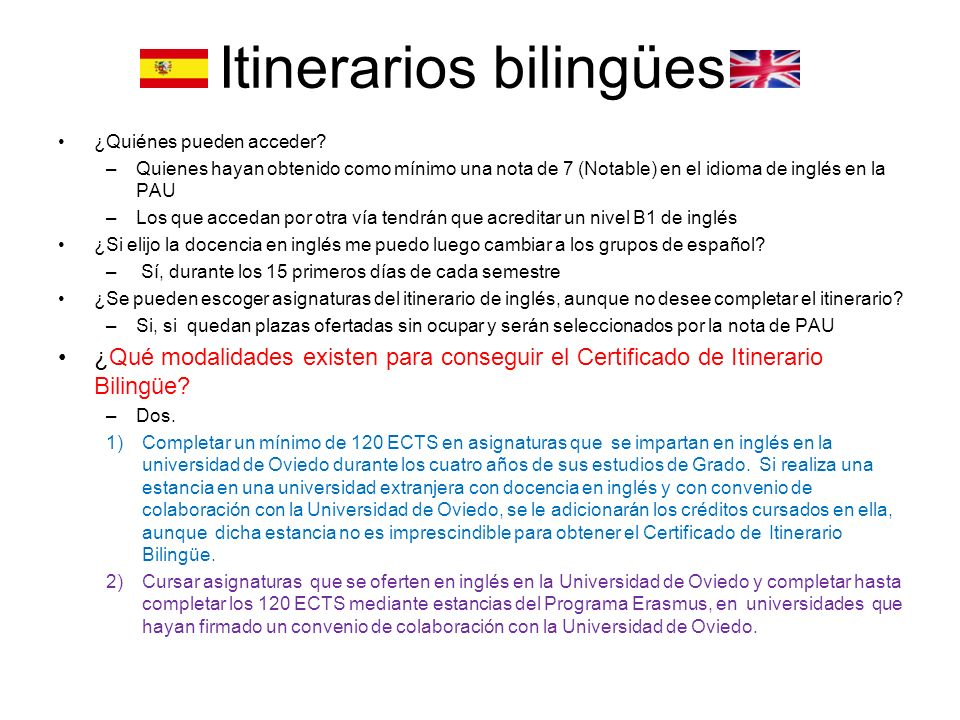 Itinerarios bilingües