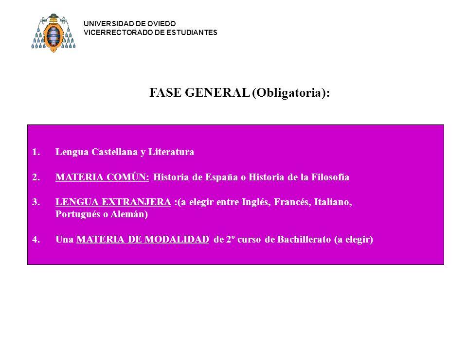 FASE GENERAL (Obligatoria):