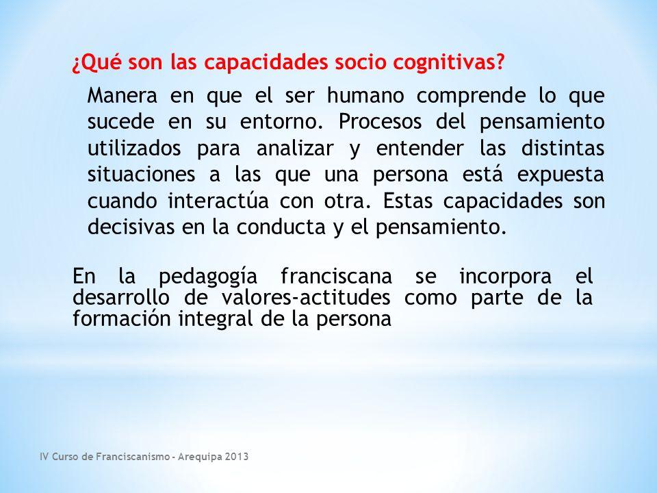 ¿Qué son las capacidades socio cognitivas