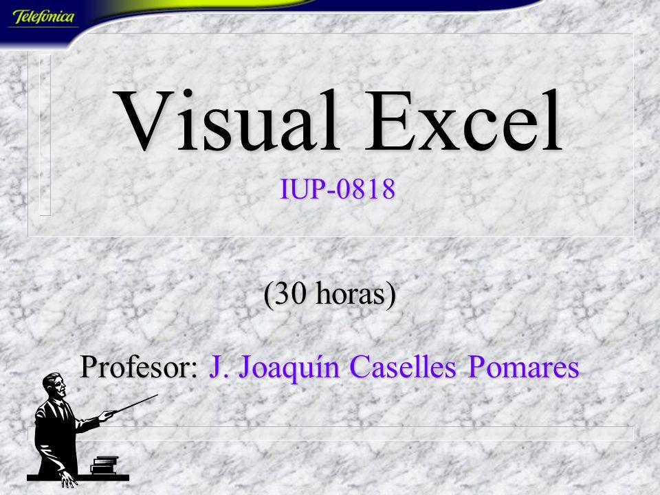 (30 horas) Profesor: J. Joaquín Caselles Pomares