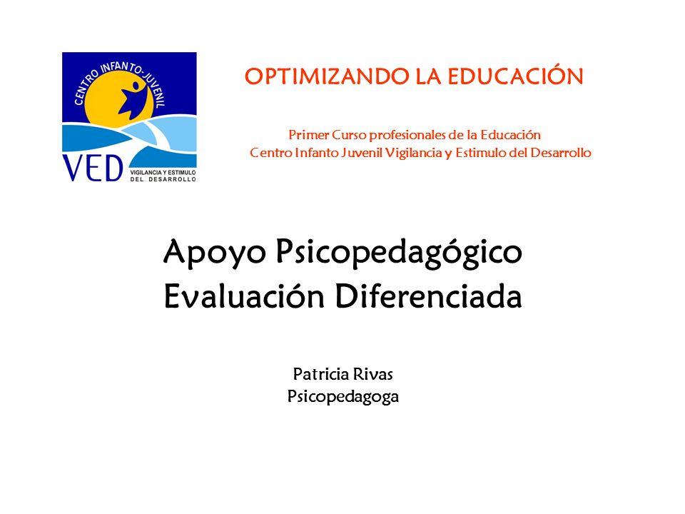 Apoyo Psicopedagógico Evaluación Diferenciada