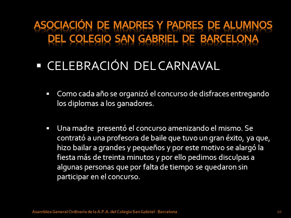 CELEBRACIÓN DEL CARNAVAL