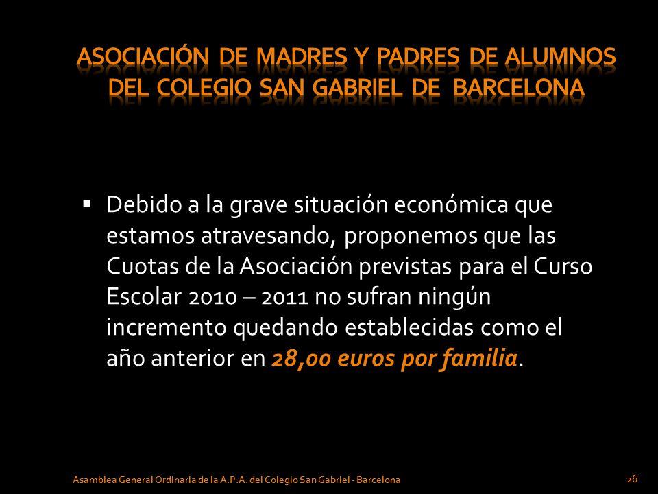 ASOCIACIÓN DE MADRES Y PADRES de ALUMNOS del COLEGIO SAN GABRIEL de BARCELONA