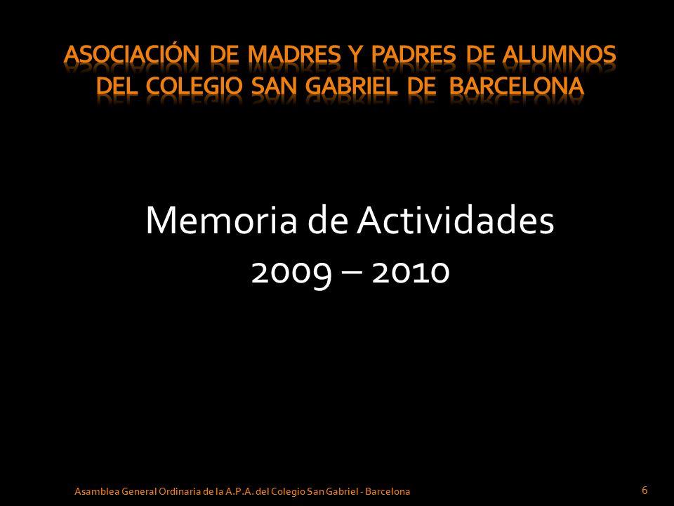 Memoria de Actividades 2009 – 2010