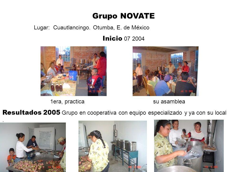 Grupo NOVATE Lugar: Cuautlancingo. Otumba, E. de México. Inicio 07 2004. 1era, practica su asamblea.