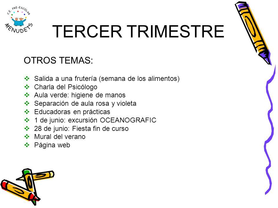 TERCER TRIMESTRE OTROS TEMAS: