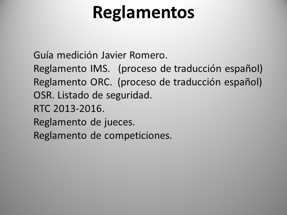 Reglamentos Guía medición Javier Romero.