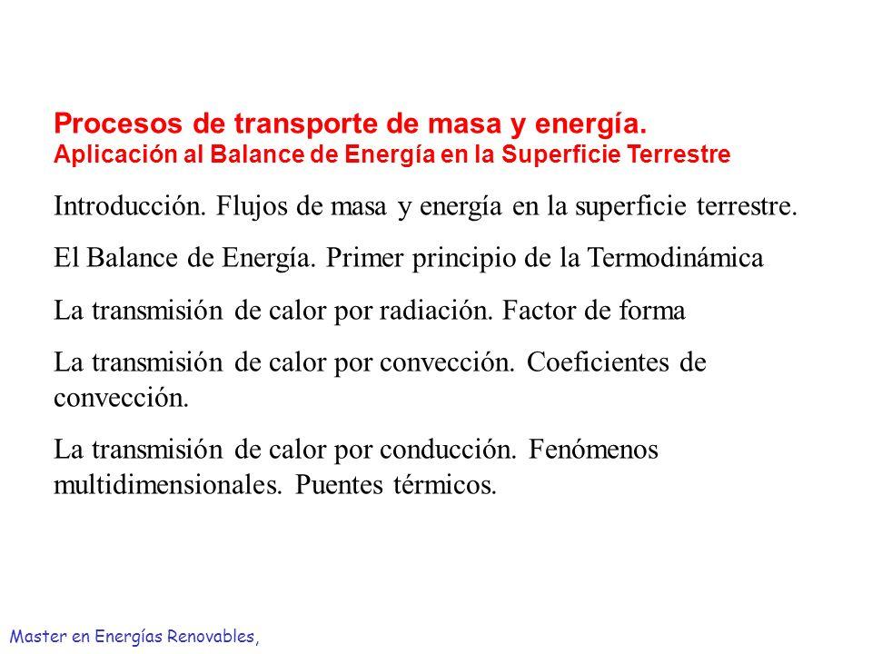 Introducción. Flujos de masa y energía en la superficie terrestre.