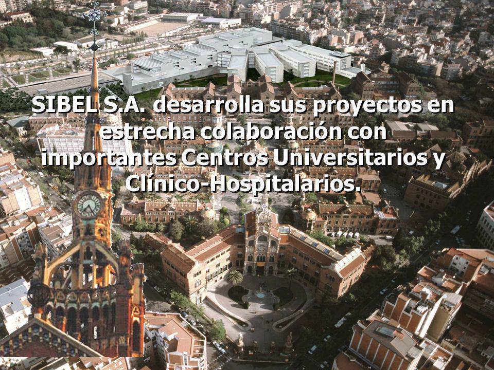 SIBEL S.A. desarrolla sus proyectos en estrecha colaboración con importantes Centros Universitarios y Clínico-Hospitalarios.