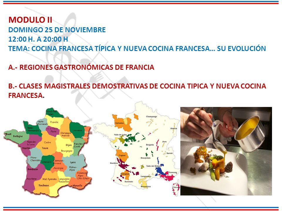 MODULO II DOMINGO 25 DE NOVIEMBRE 12:00 H. A 20:00 H