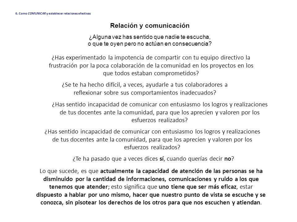 Relación y comunicación