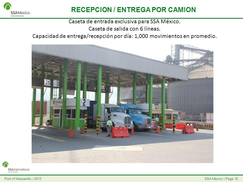 RECEPCION / ENTREGA POR CAMION