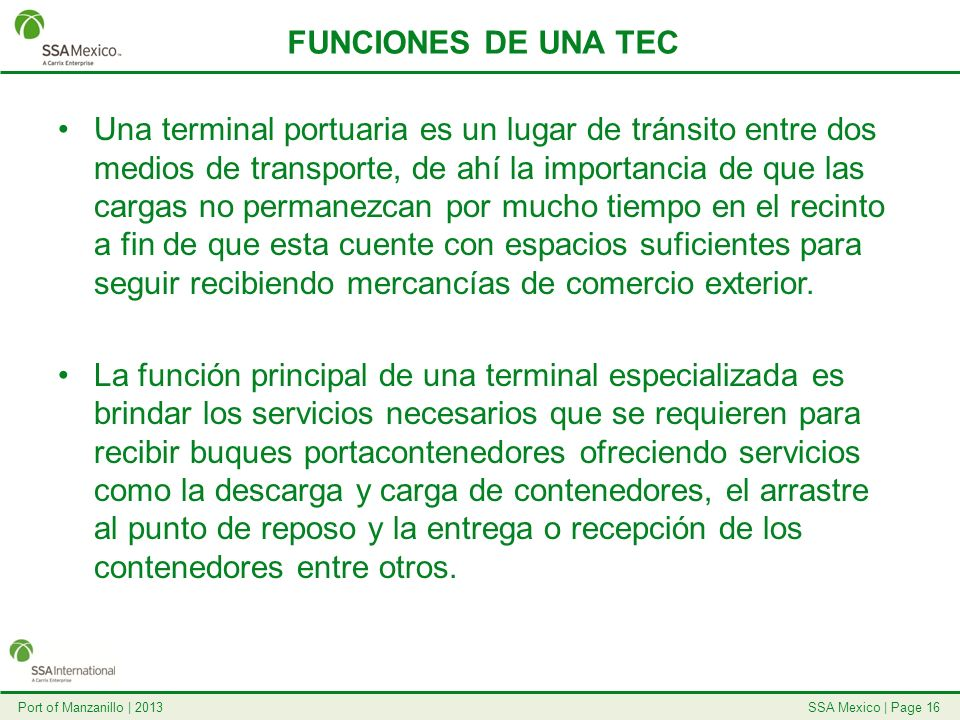 FUNCIONES DE UNA TEC