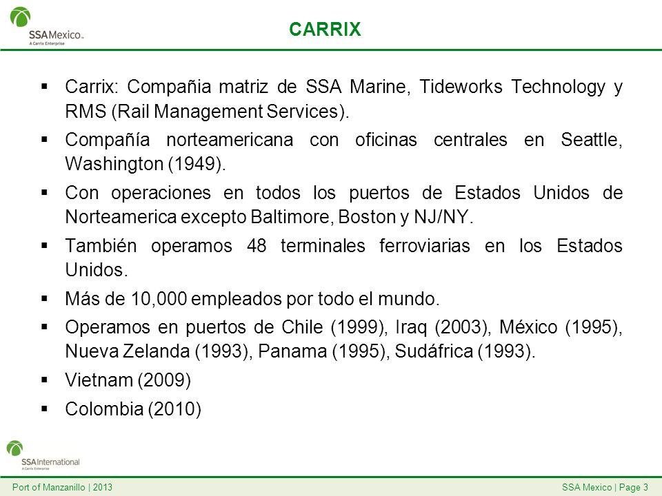 CARRIX Carrix: Compañia matriz de SSA Marine, Tideworks Technology y RMS (Rail Management Services).