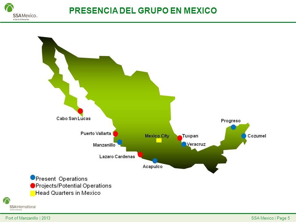PRESENCIA DEL GRUPO EN MEXICO