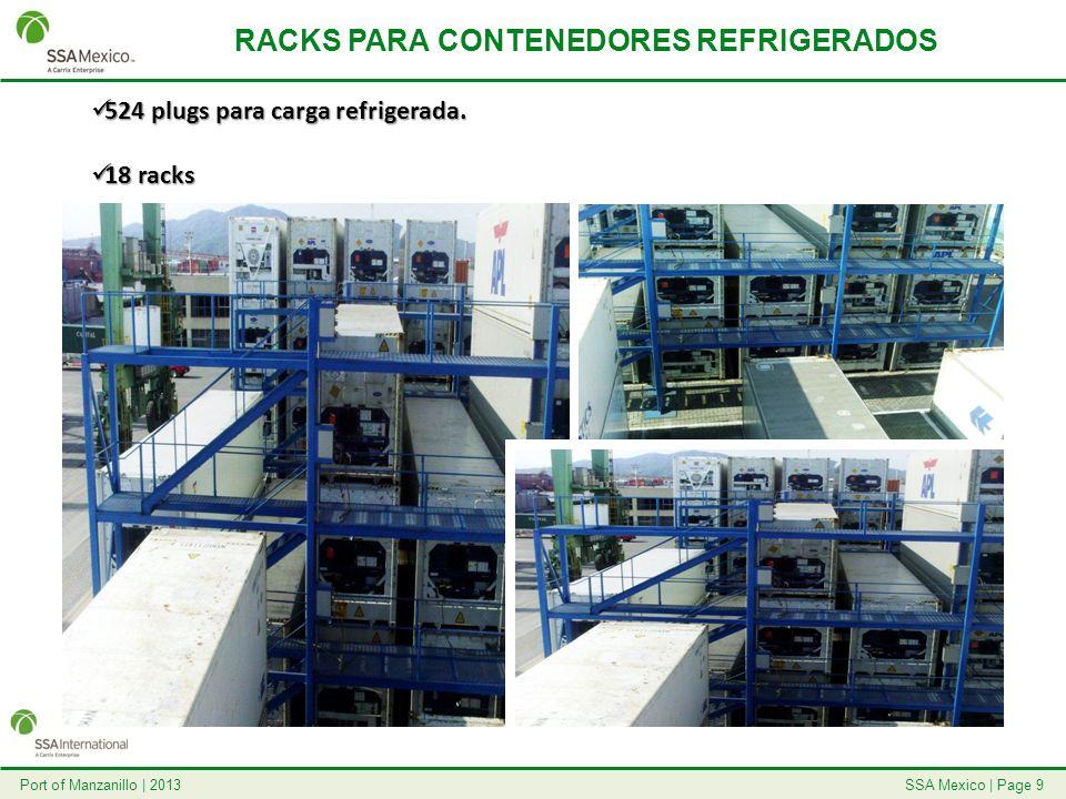 RACKS PARA CONTENEDORES REFRIGERADOS