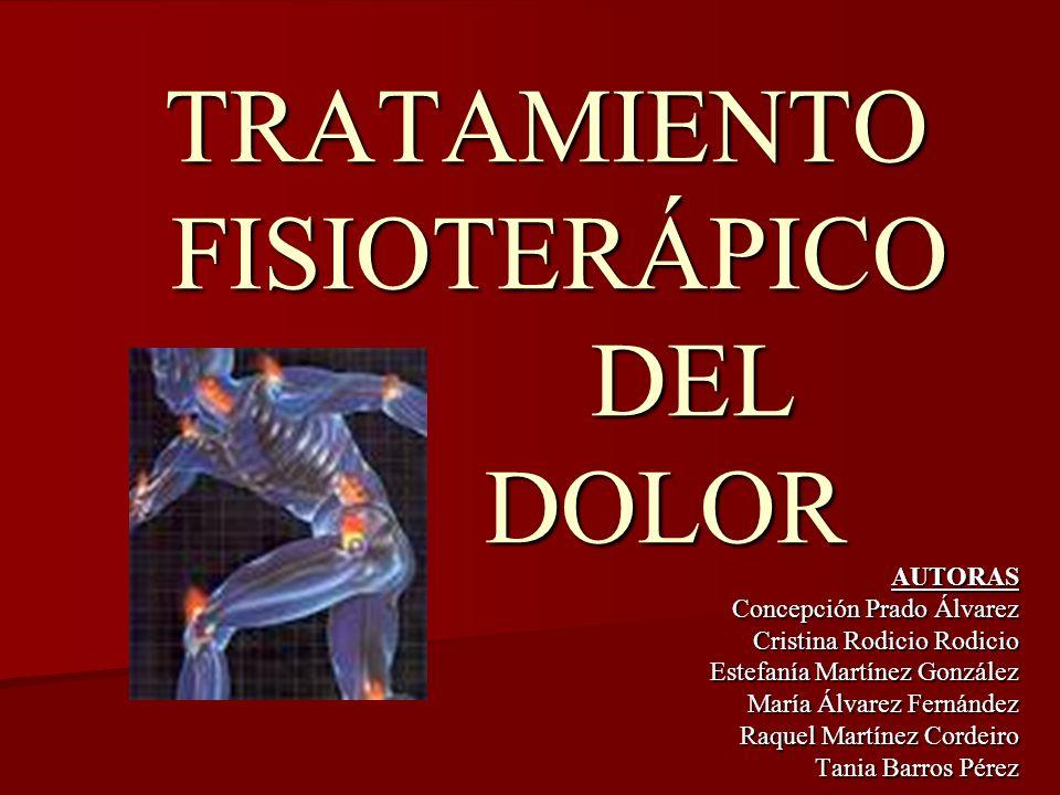 TRATAMIENTO FISIOTERÁPICO DEL DOLOR